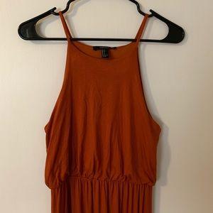 Forever 21 Copper/Rust Maxi Dress